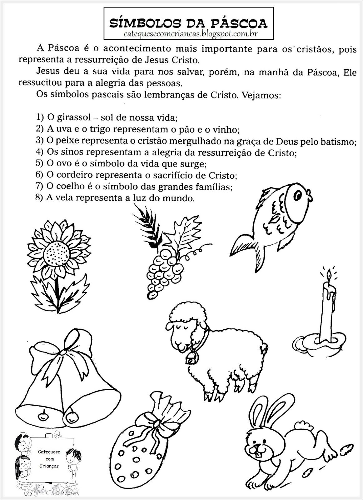 Simbolo Da Pascoa Com Imagens Simbolos Da Pascoa Atividades