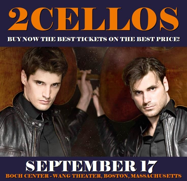 2Cellos in Boston at Boch Center - Wang Theater on September 17. More about this event here https://www.facebook.com/events/1879148875693396/