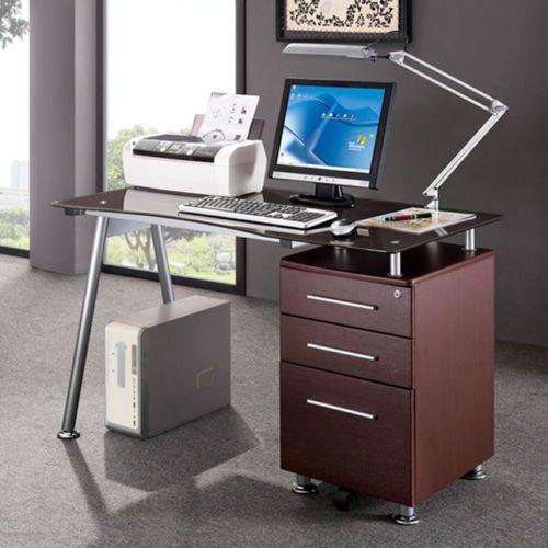 Modern Design Office Locking File Cabinet Computer Desk Furniture Vintage Top Computer Desk Writing Desk Modern Desk Desk with locking file cabinet