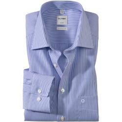 Olymp Luxor Hemd, comfort fit, New Kent, Blau, 45 Olymp