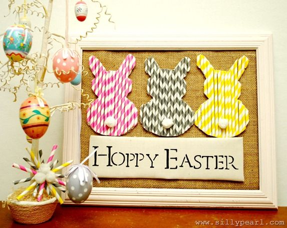 Paper Straw Easter Bunnies-The Silly Pearl