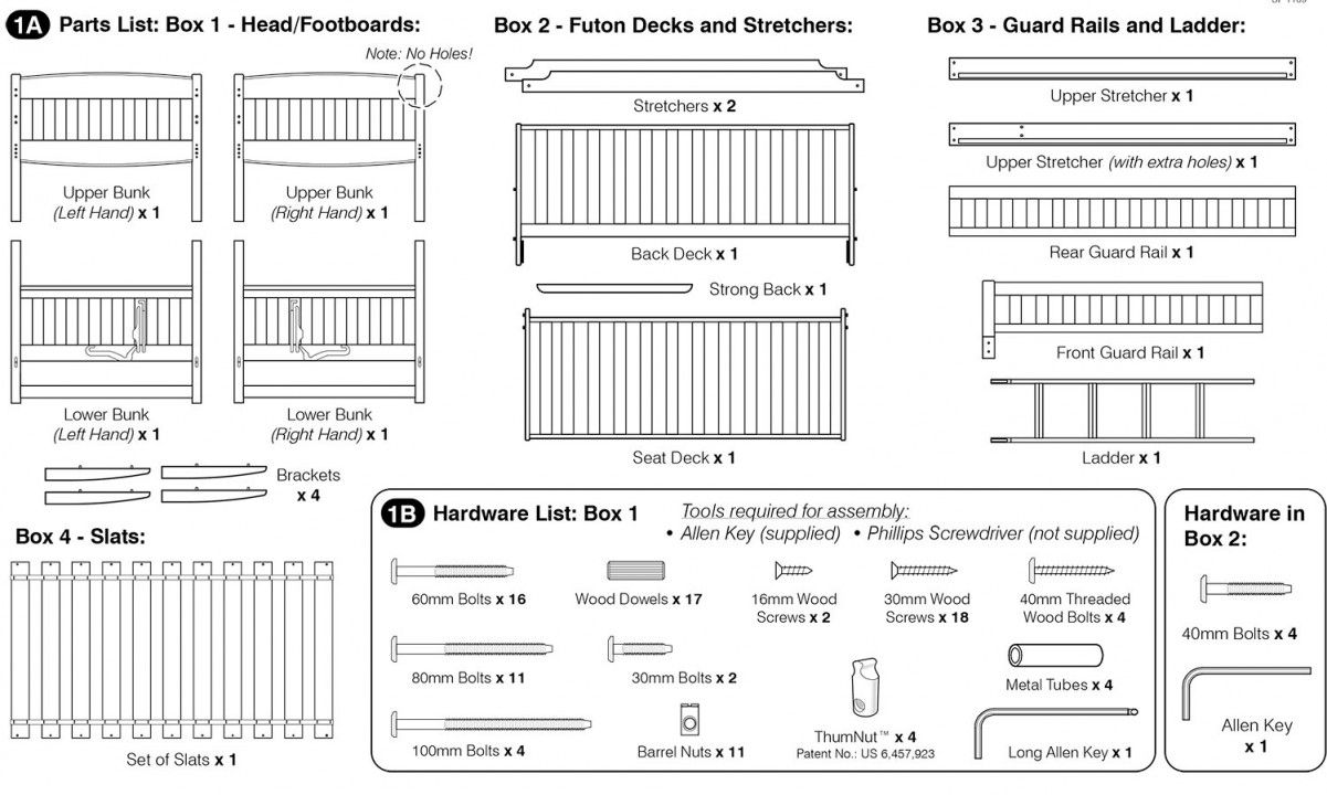 Full Bunk Bed Embly Instructions