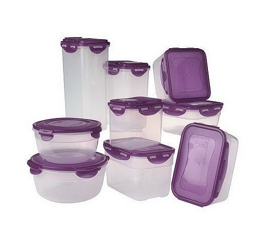 Purple is my favorite color and the lock in Lock is great food storage!  sc 1 st  Pinterest & Lock u0026 Lock 9-Piece Variety Storage Set | Food storage Favorite ...