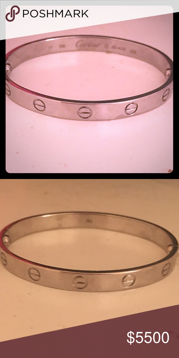 Authentic Cartier Love Bracelet Preowned In Used Condition White Gold Open To Offers Jewelry Bracelets