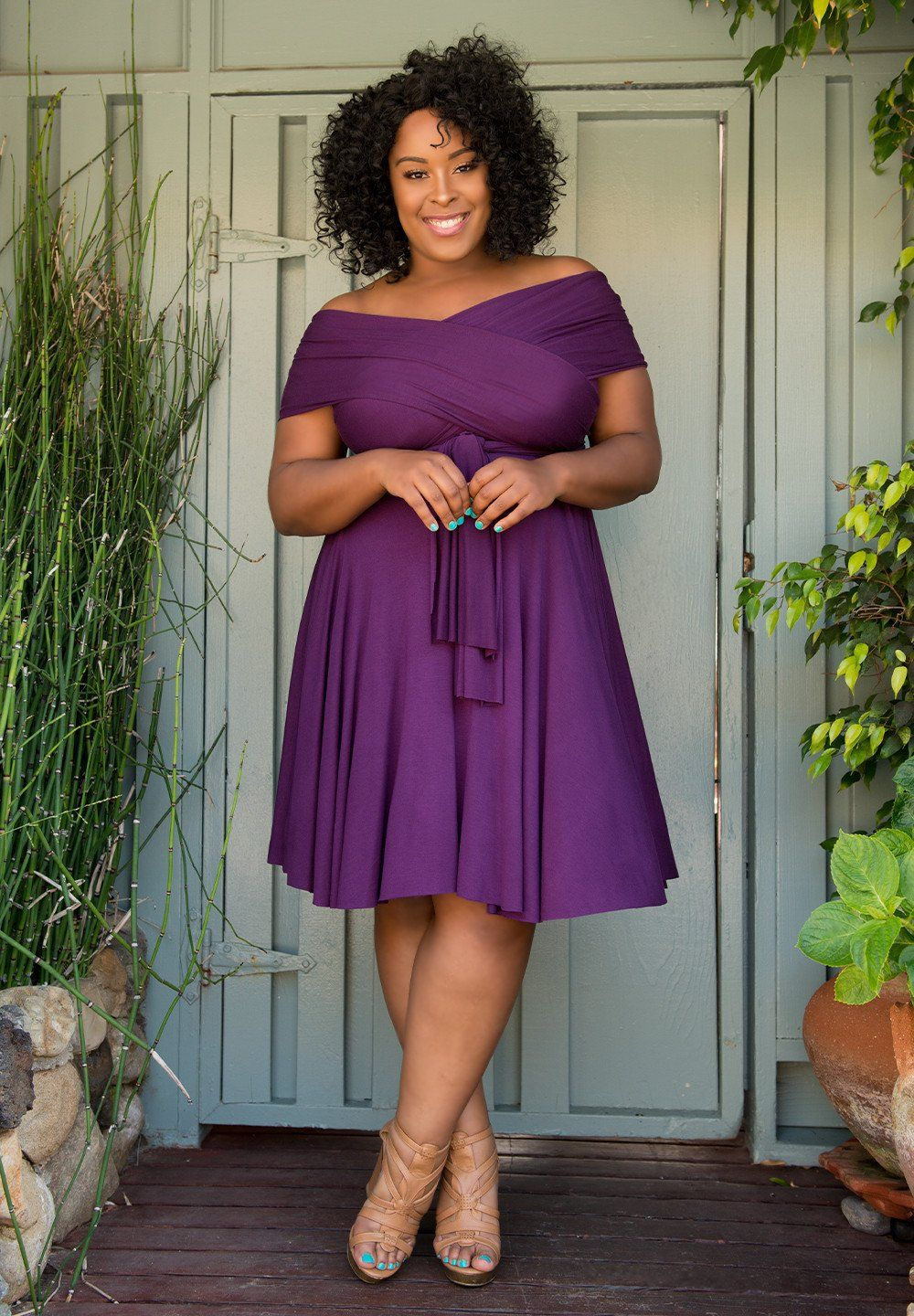 Eternity Convertible Dress - Eggplant #plussize #plussizefashion ...