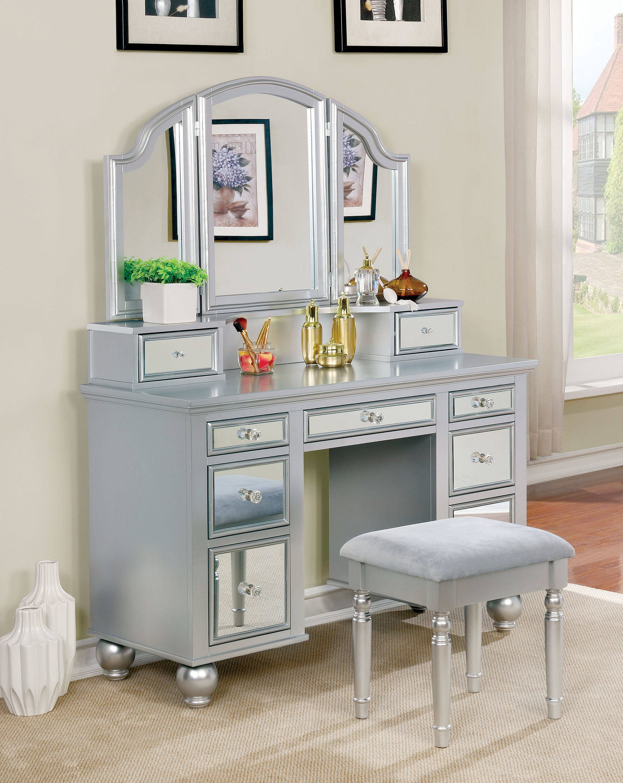 save furniture you love stool wayfair stools silver chloe ll vanity