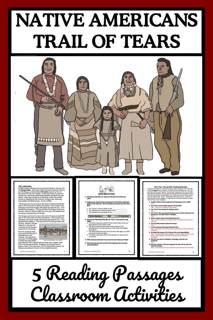 Photo of NATIVE AMERICANS: TRAIL OF TEARS, THE LONG WALK – Reading Passages & Activities