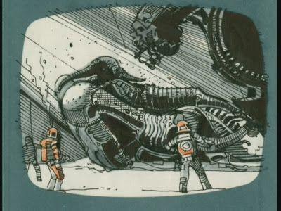 ridley scott's storyboard for alien