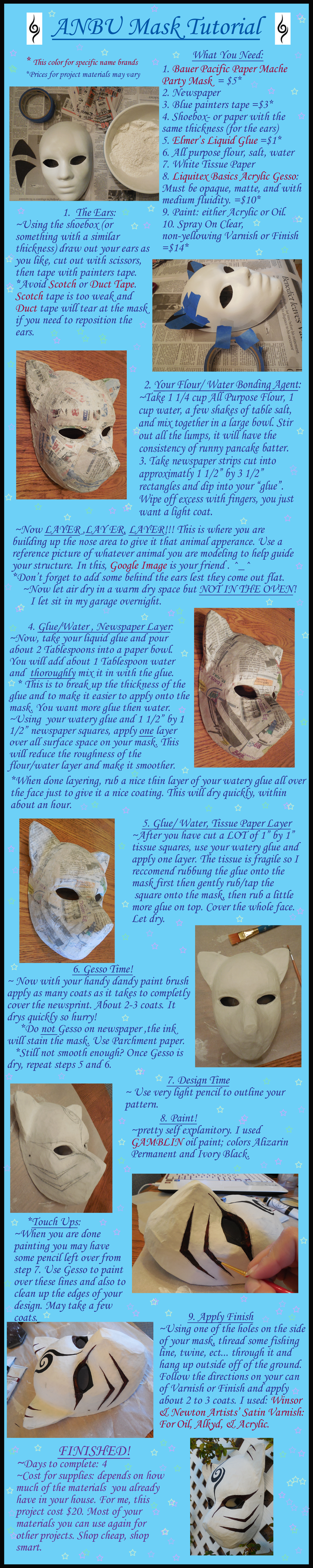 papermache anbu mask tutorial by agentshoemaker diy cosplay geekery pinterest masken. Black Bedroom Furniture Sets. Home Design Ideas
