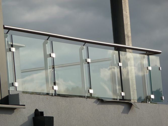 Awesome Glass Handrails for Balcony