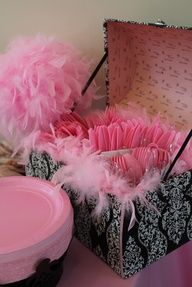 Photo 4 of 141: Vintage crown w/ pink damask, feathers  black  white / Birthday Talias vintage princess crown 1st bday | Catch My Party