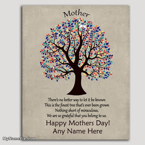 Awesome Mothers Day Card Ideas With Your Name Happy