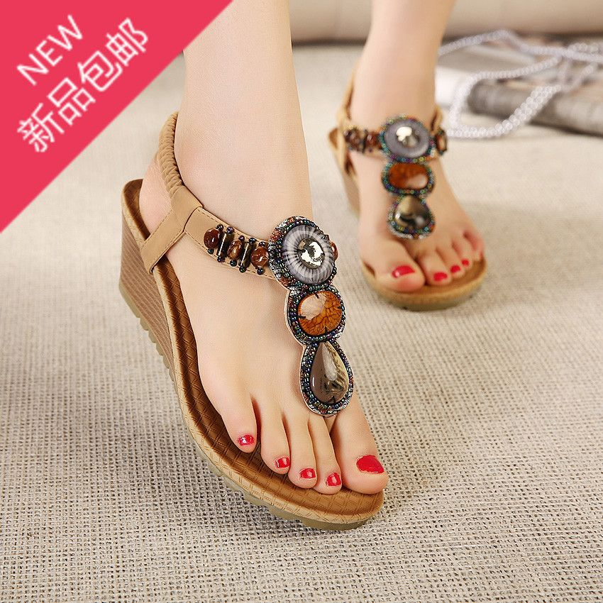 """Cheap Sandals on Sale at Bargain Price, Buy Quality shoe tailor sandals, sandals for women flat, sandals trip from China shoe tailor sandals Suppliers at Aliexpress.com:1,Process:Adhesive 2,material technology:scrub 3,Insole Material:PU 4,Occasion:Dress 5,Heel Height:Med (1 3/4"""" to 2 3/4"""")"""