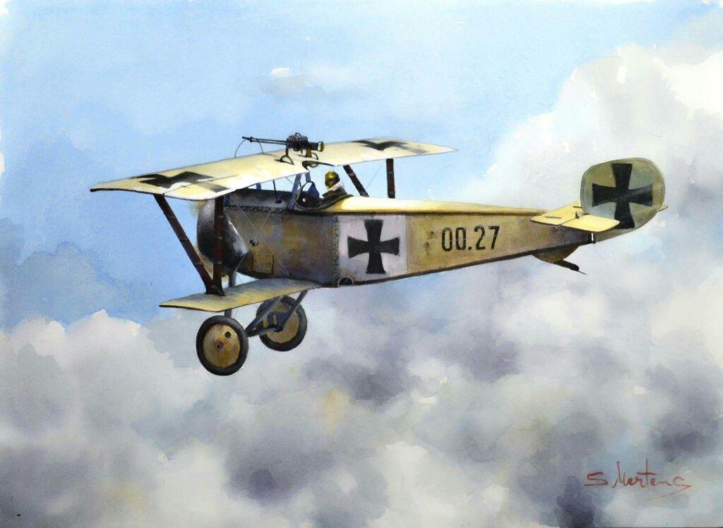 Captured Nieuport 11 Drooling Bulldog
