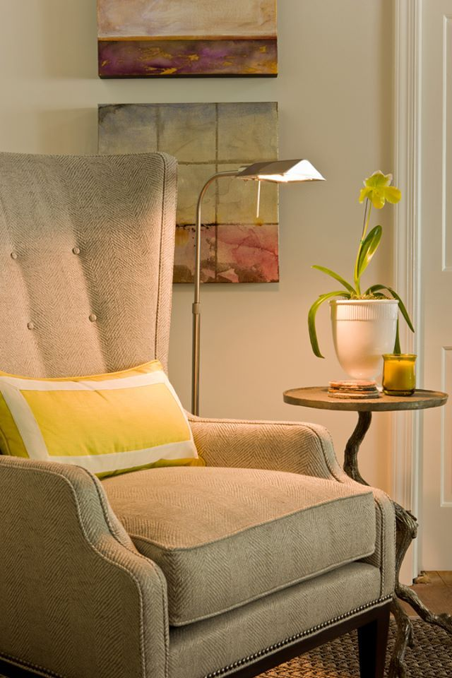 The 114 55 Elliott Wing Chair By Hickory Chair Was Part Of The Kirk Designs  Room At The 2012 DC Design Showhouse.