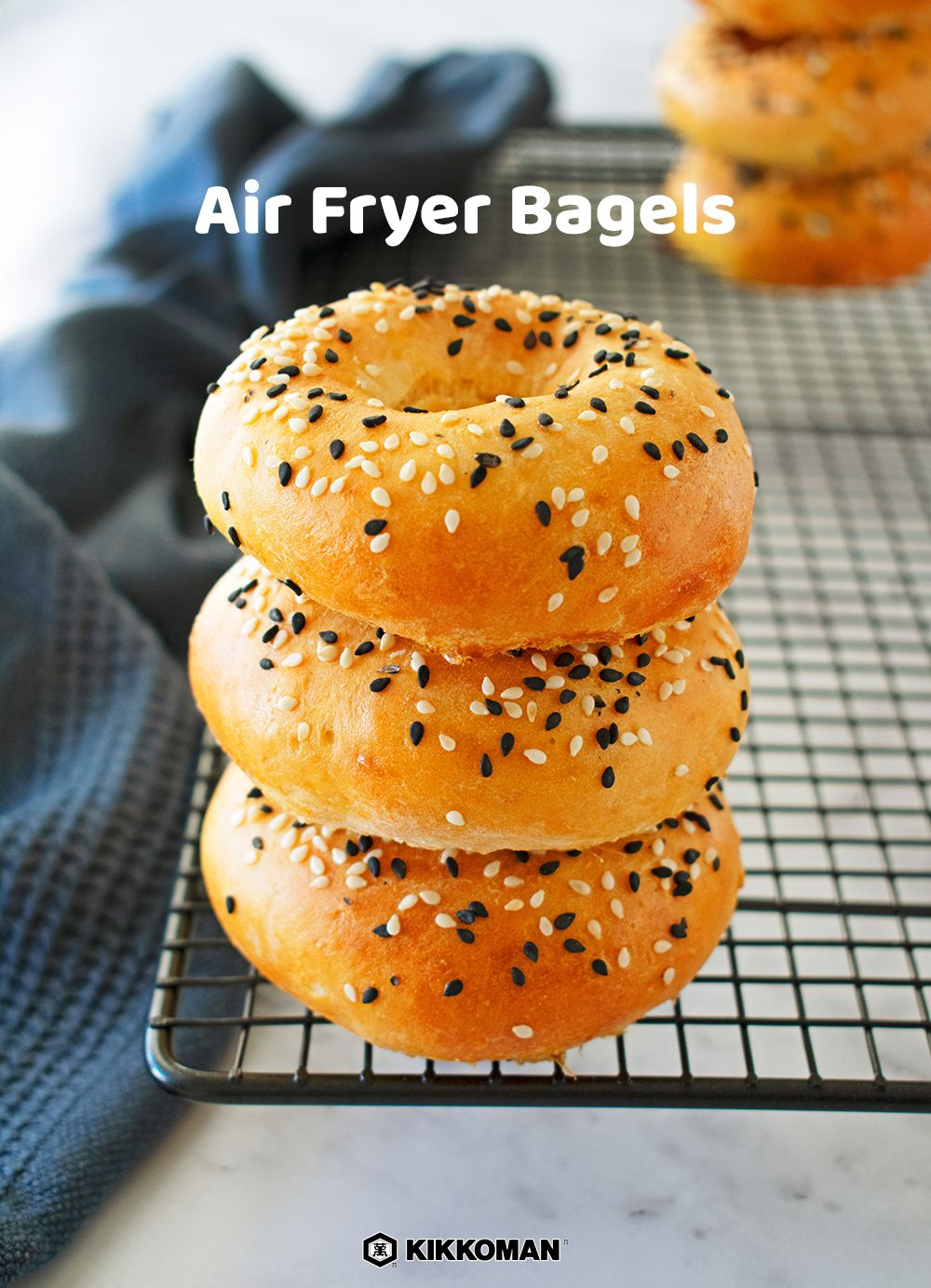 Savory Glazed Air Fryer Bagels Recipe in 2020 Recipes
