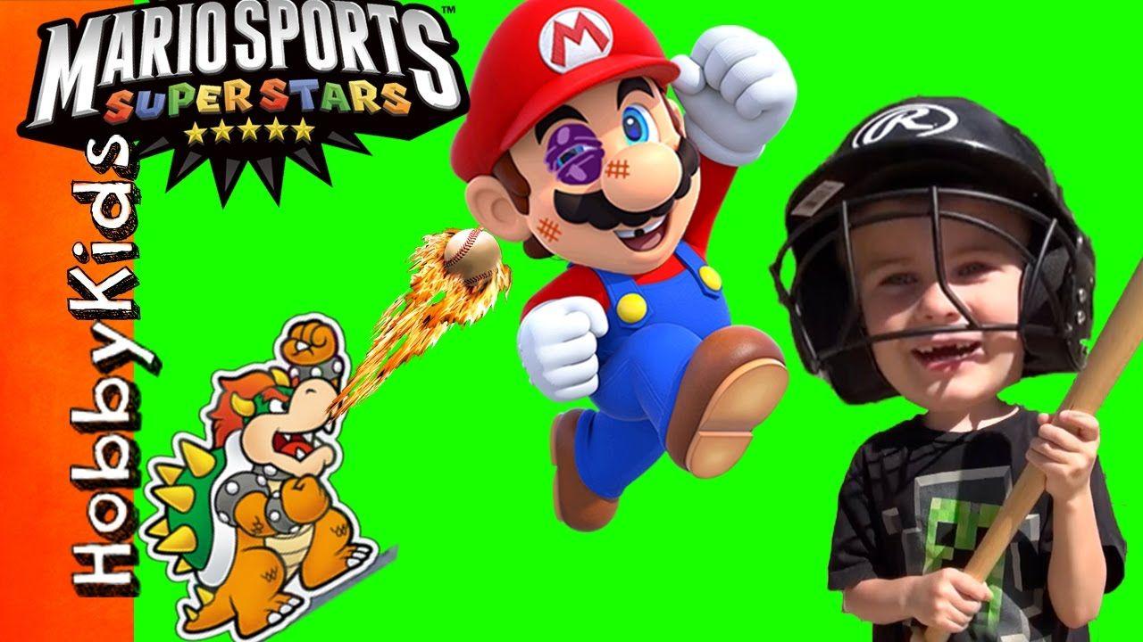 Hobbykids Baseball Mario Beat Up By Bowser Kids Video Gaming Sports S Video Games For Kids Mario Sports Superstars Kids Videos