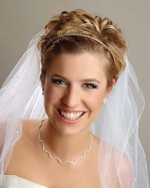 Wedding Hairstyles For Short Hair Women\'s | Short veil
