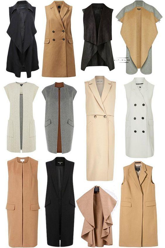 Trending: Sleeveless Coats 2015 - Mama Stylista @stylistamama #dresses
