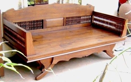 Old Daybed Teak Wood From Thailand