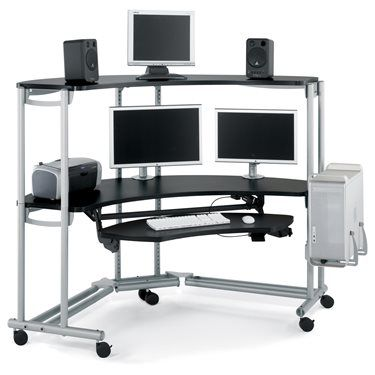 Modular Multimedia Desk and Workstation Console Unit from Anthro
