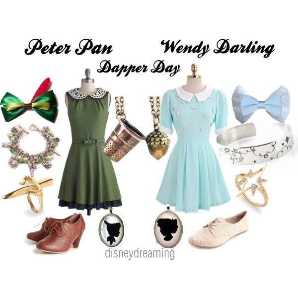 Peter Pan and Wendy Darling, created by em-ily-ann on Polyvore
