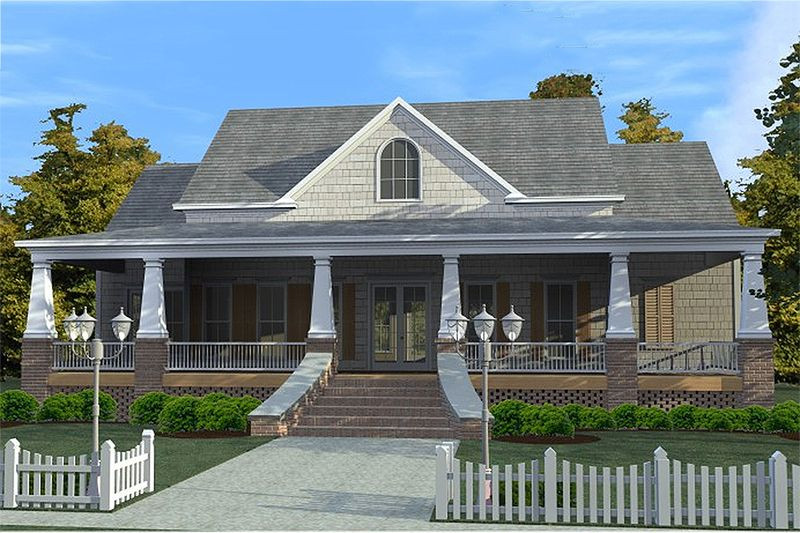 Nice Craftsman Style House Plan   3 Beds 2.5 Baths 2366 Sq/Ft Plan #63