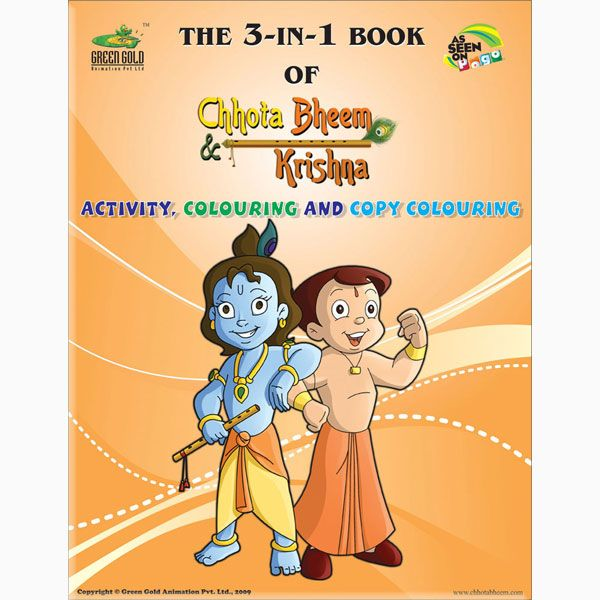 Books And Learning, Activity Books, The 3-in-1 Book of Chhota Bheem - best of chhota bheem coloring pages games