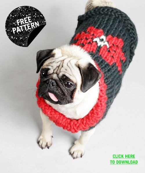 Free knitting pattern for dog sweater | Knit | Pinterest | Strick ...