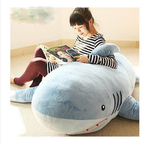 Cute Shark Pillow : 67 giant Huge Big Shark Stuffed Animal Plush Soft Toy Pillow Sofa Cute Gift Cute Pinterest ...