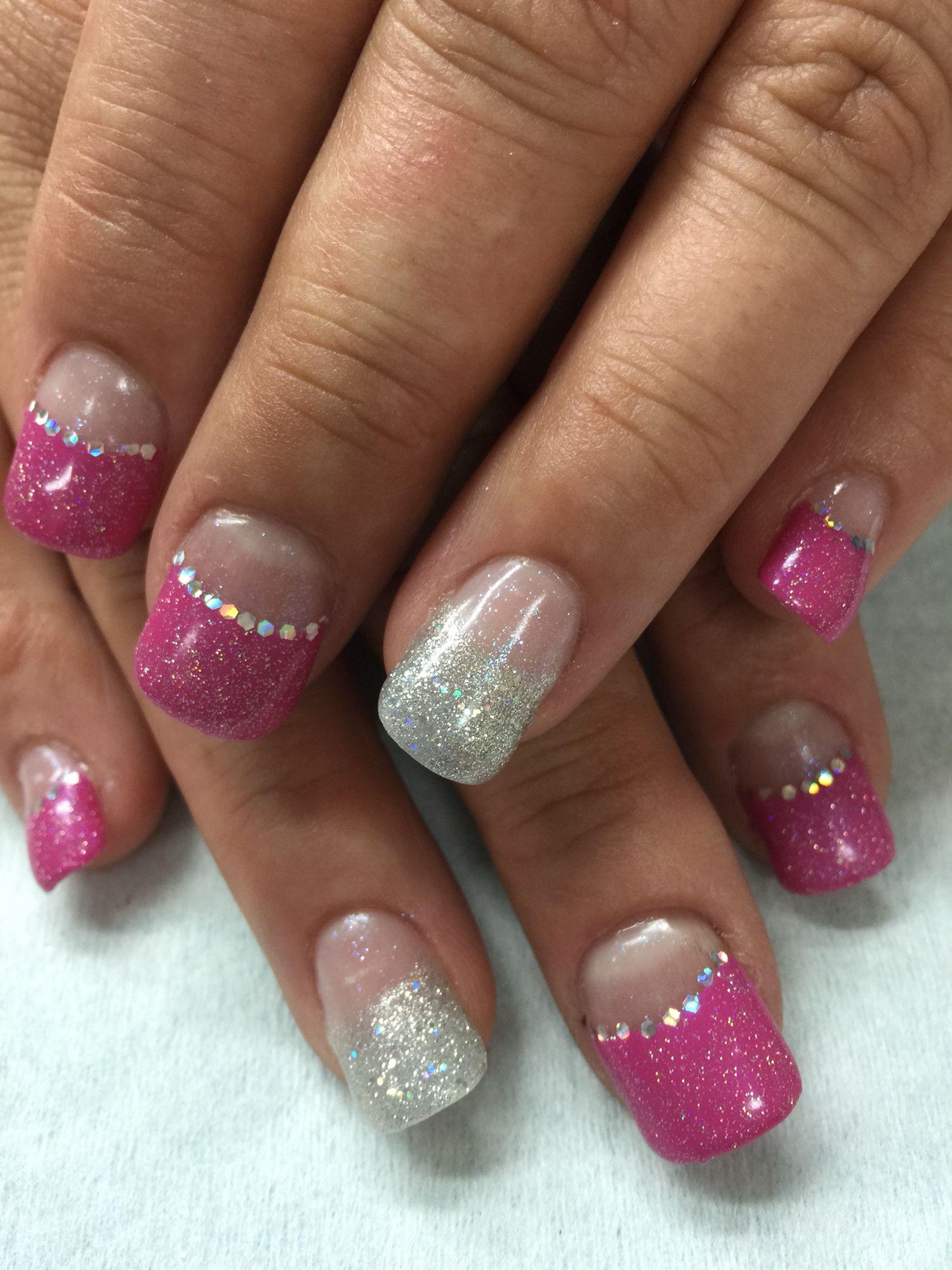 Sparkle, bling bridesmaid gel polish over non-toxic odorless hard ...