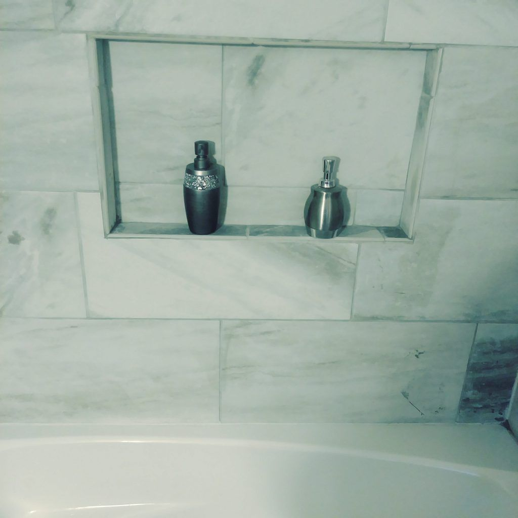 Tiled Shelf | Shelves, Tubs and Construction