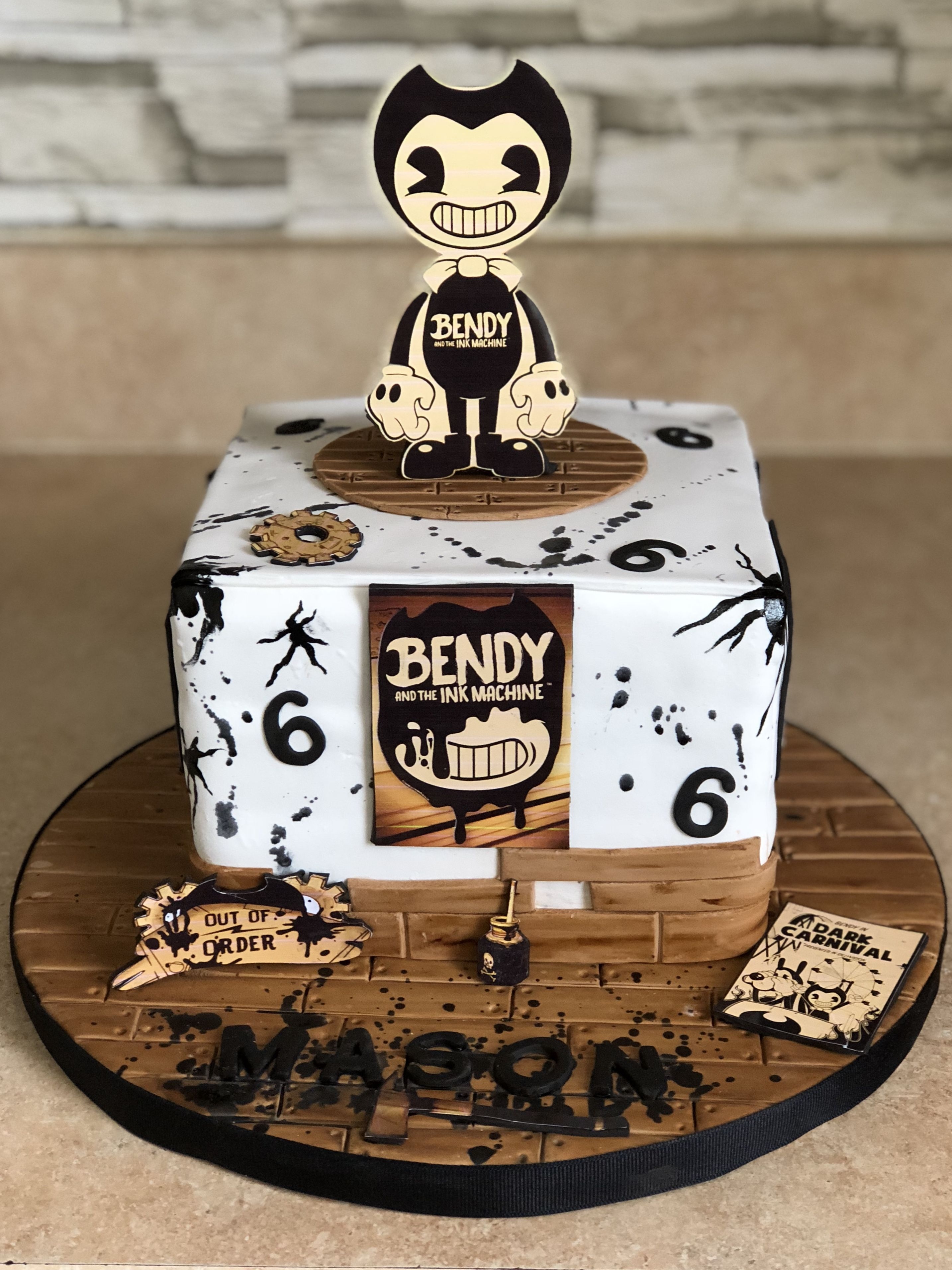 Bendy and the ink machine cake | Cakes | Bendy, the Ink ...