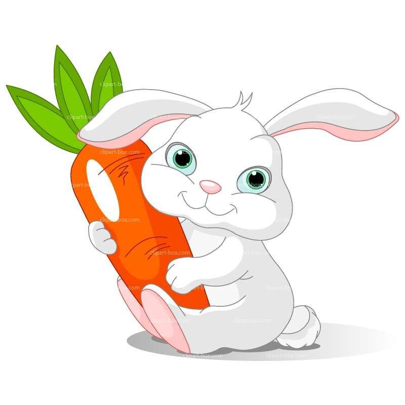 Bunny carrot clipart | Food Clipart | Rabbit clipart ...