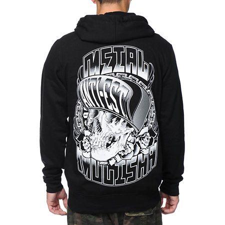 Metal Mulisha Low Life Black Zip Up Hoodie 599fb04894d