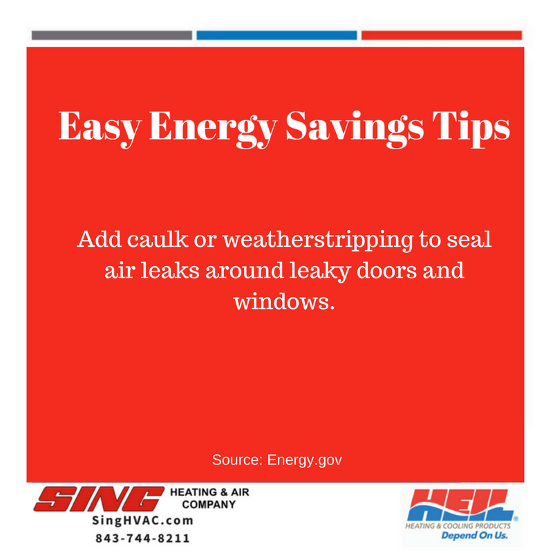 EnergyTips SingHVAC Heil Seal air leaks, Energy
