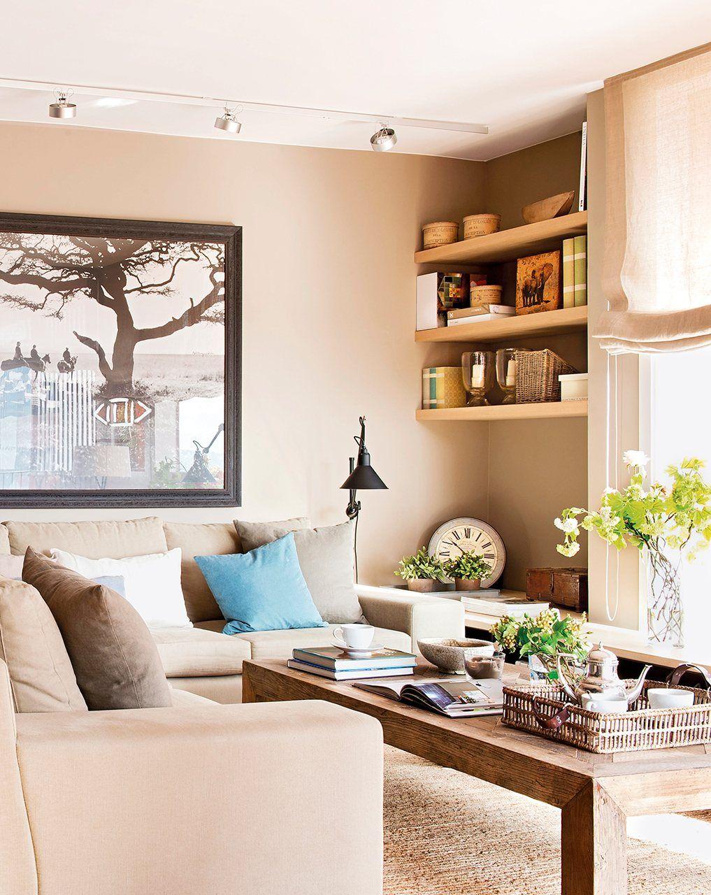 Gana espacio en el sal n 10 trucos infalibles deco salones espacio y decoracion de salas - Visillos para salones ...