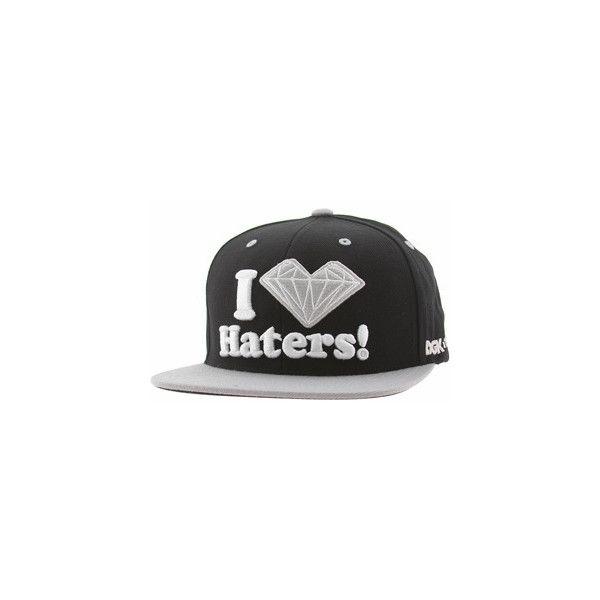 a6ceb0131932f DGK x Diamond Supply Co Haters Snapback Cap (black silver) ( 40) ❤ liked on  Polyvore featuring accessories