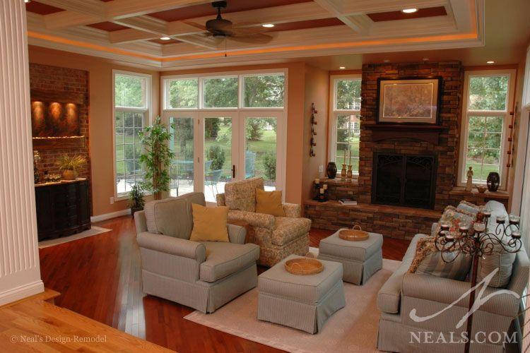 Ordinary Sunroom With Fireplace Designs #1: Sunroom Designs With Fireplaces | Year-Round Sunroom Addition | Mason, OH