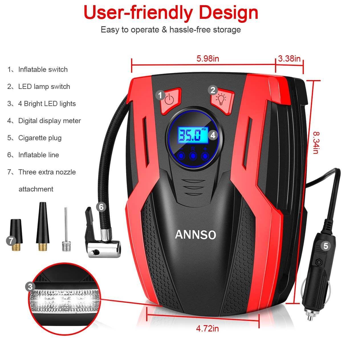 Annso Air Compressor Tire Inflator in 2020 Portable air