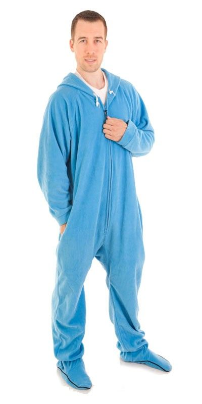 1465ade73235 Footed Blue Deluxe Adult Onesies