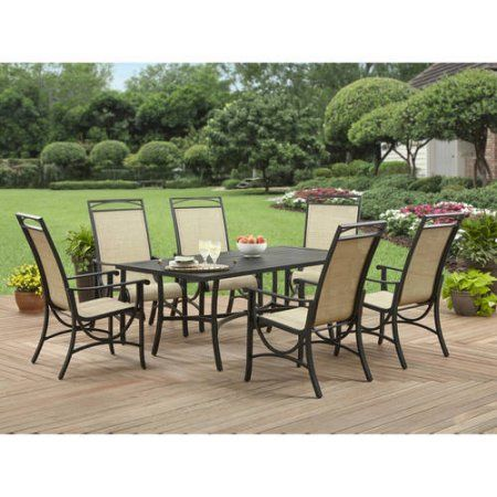 Better Homes And Gardens Pembroke Place 7pc Steel Lumbar Sling Dining Set Porch