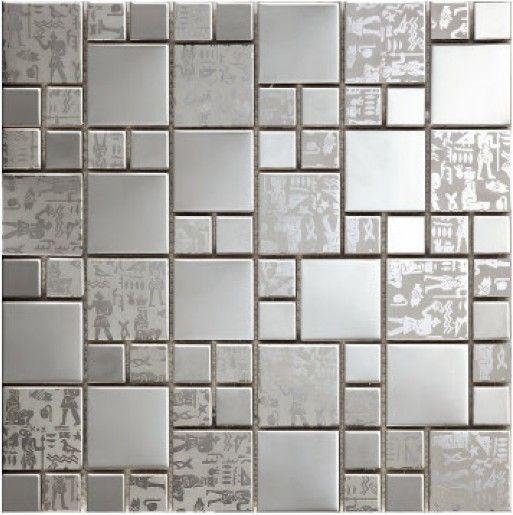 Freies verschiffen metall mosaik edelstahl fliesen hintergrund wand ...