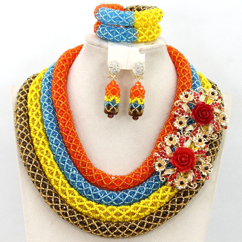Big Costume African Jewelry Set Nigerian Wedding African Beads ...