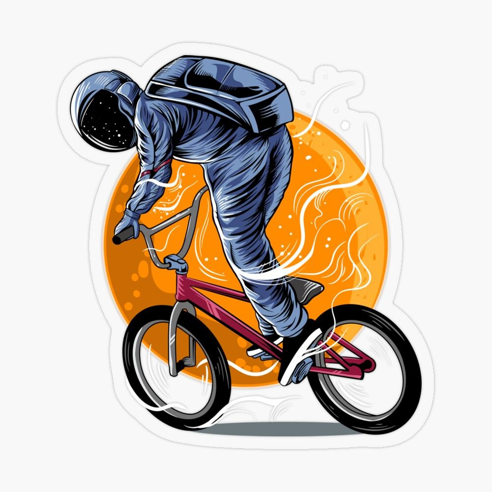 Pin By Sage Clothing On Illustrations In 2020 Bmx Stickers Bmx Illustration Artwork