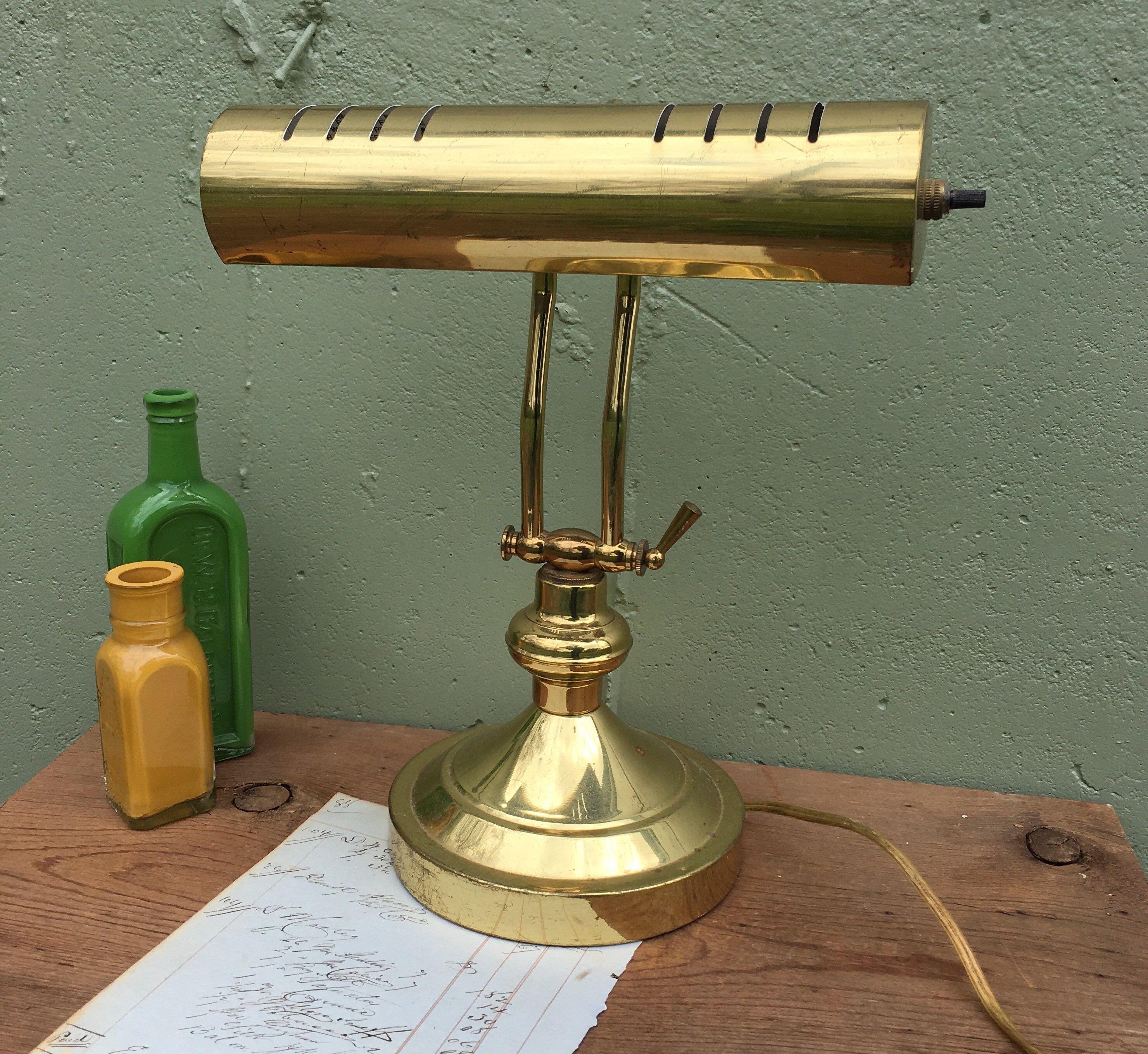 Vintage Adjustable Gold Color Desk Lamp Brass Piano Lamp Retro Etsy Desk Lamp Retro Desk Lamp Lamp
