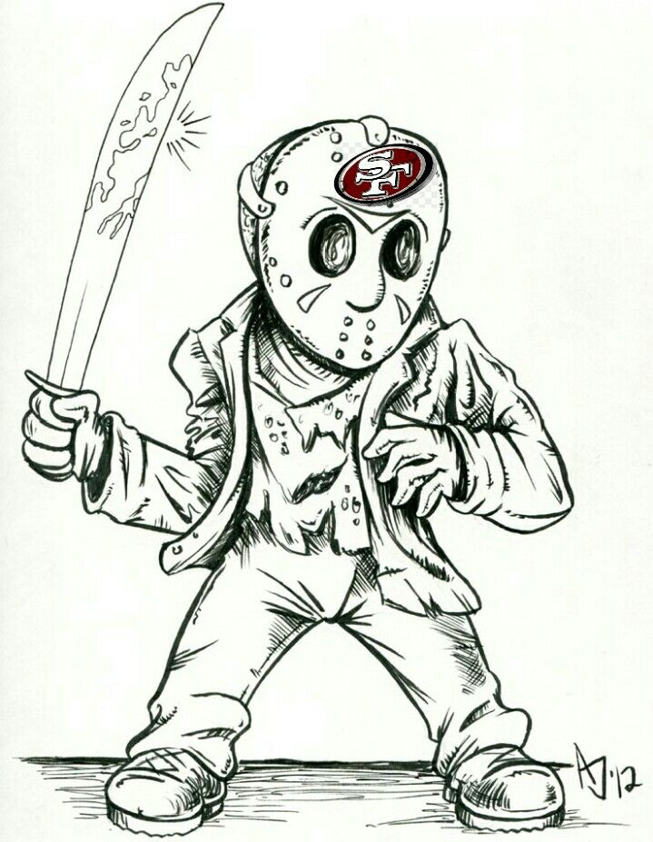 Pin By Mario Saldana On San Francisco 49ers Horror Drawing Scary Drawings Badass Drawings