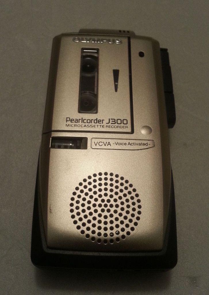 Olympus J300 Pearlcorder Microcassette Recorder