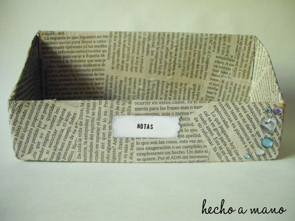 Made with newspapers, nice!