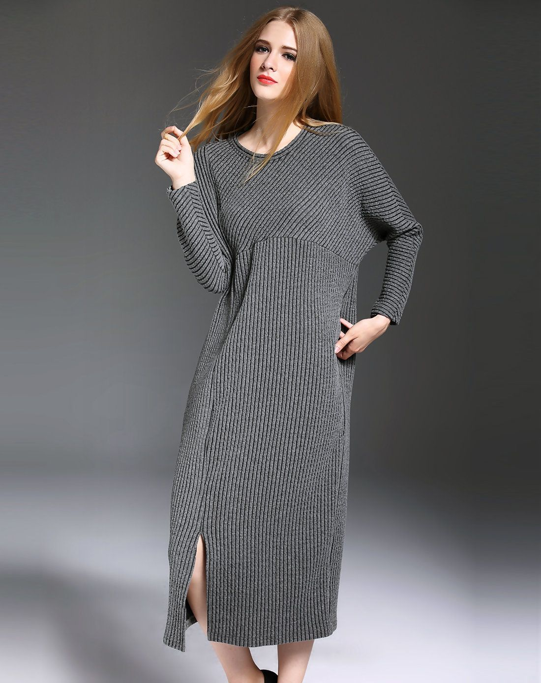 Adorewe vipme sweater dresses esdannuo knitted jacquard long
